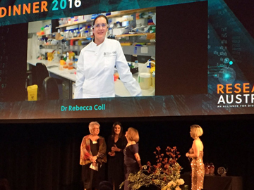 Rebecca Coll receives Research Australia Award